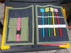 04 Stifte einfädeln und Farben und Steckschnalle