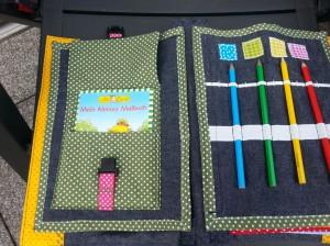 05 Stifte einfädeln und Farben und Steckschnalle