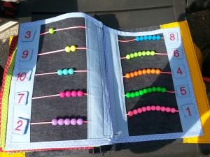 11 Zahlen zählen und Klettverschluss