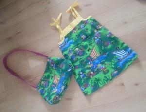 Sommerkleid und KiGa-Tasche - die Wickinger sind los